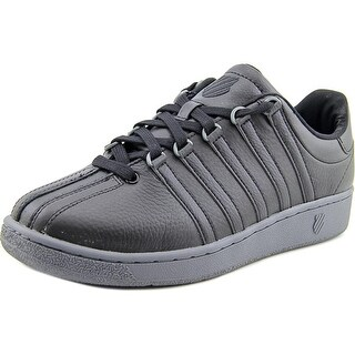 K-Swiss Classic VN  Men  Round Toe Leather Black Tennis Shoe