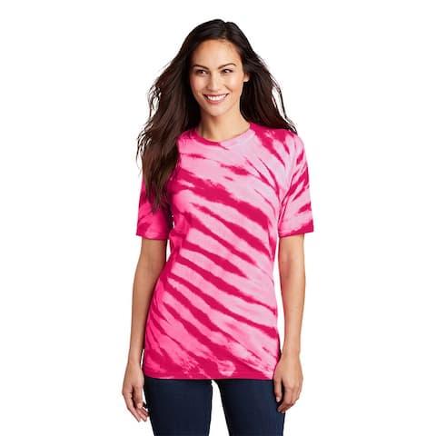 Port & Company Unisex Tiger Stripe Tie Dye Camp T Shirt