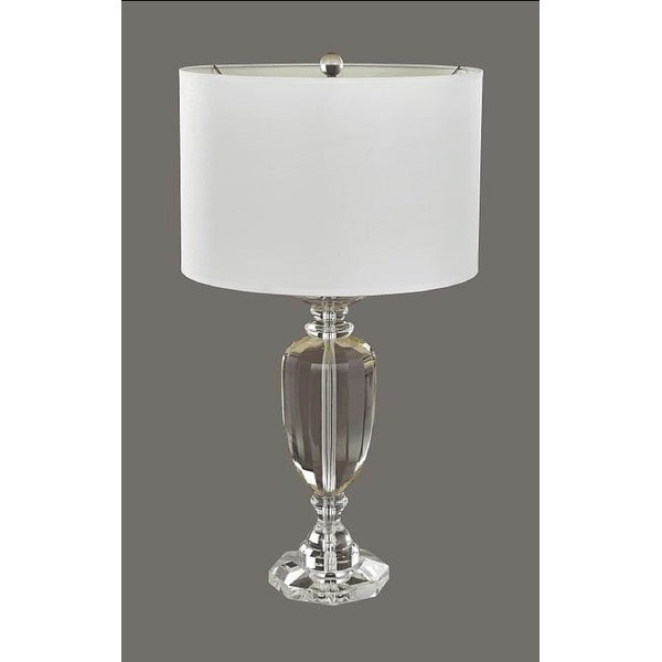 "28.25"" Round Crystal Table Lamp"