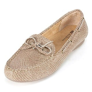 White Mountain Womens Dashboard Leather Snake Print Loafers