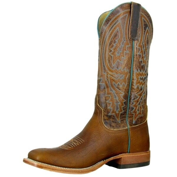 Anderson Bean Western Boots Mens Cowboy Square Toe Tobacco Yeti