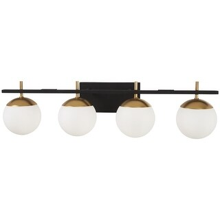 "Kovacs P1354-618 Alluria 4 Light 33"" Wide Bathroom Vanity Light with Etched Opal"
