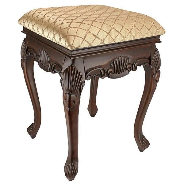 Design Toscano Madame Bouvier Boudoir Stool - 15 x 15 x 21