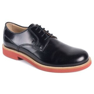 Tods Mens Black Leather Polished Lace Up Derby Shoes