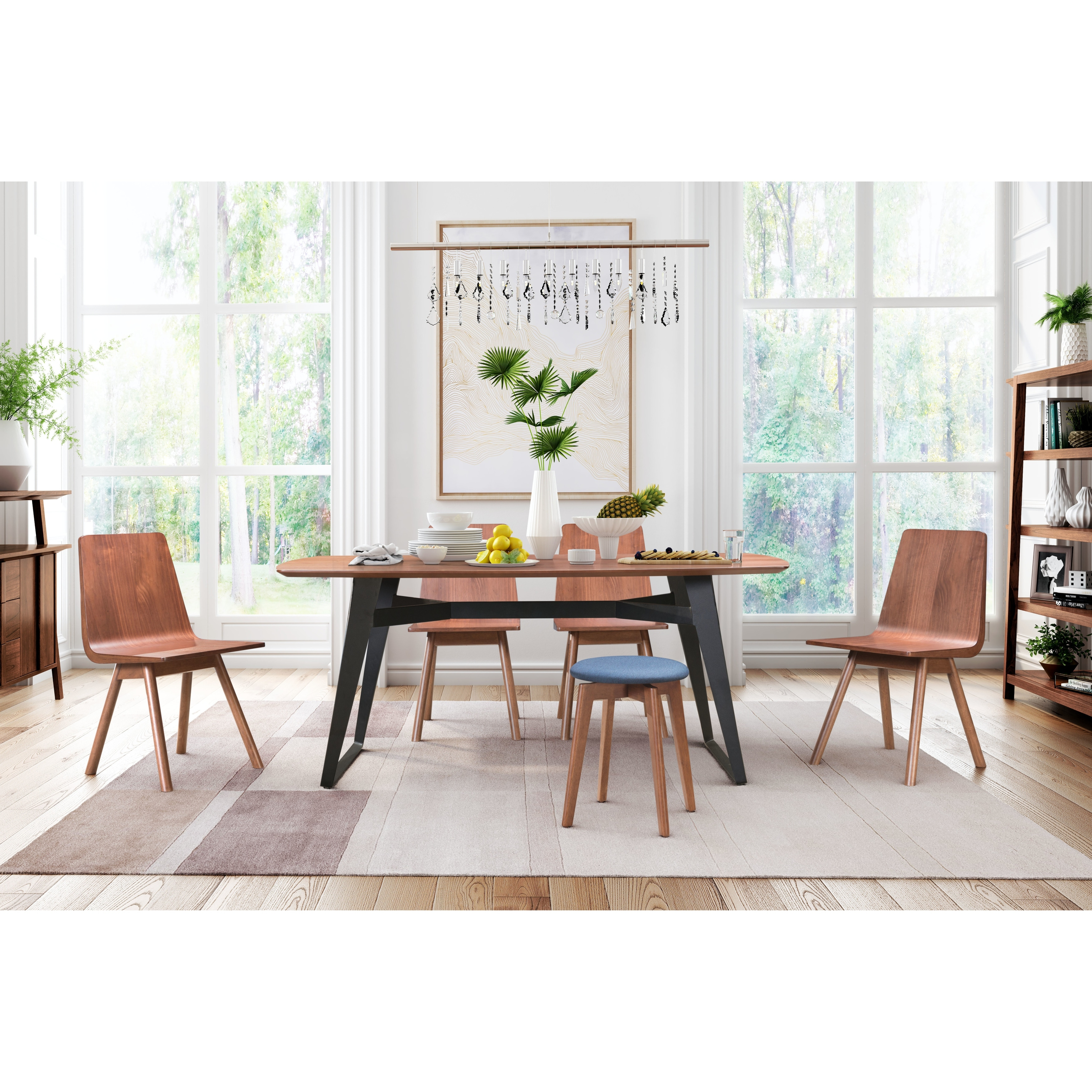 Audrey Dining Chair Set Of 2 Walnut Overstock 24072615