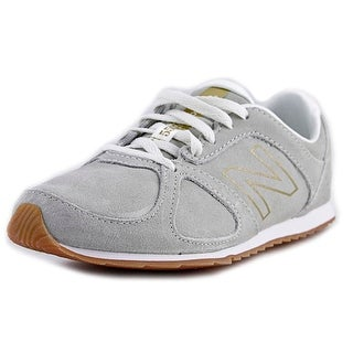 New Balance WL555 Women  Round Toe Suede Gray Sneakers