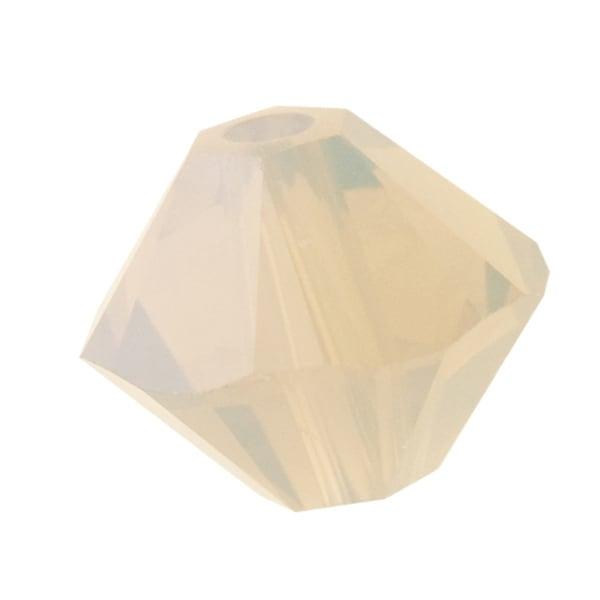 Swarovski Crystal, 5328 Bicone Beads 3mm, 25 Pieces, Sand Opal