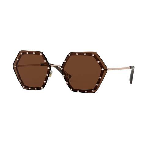 Valentino VA2035 300473 62 Rose Gold Woman Irregular Sunglasses