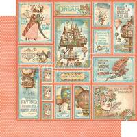 """Imagine Double-Sided Cardstock 12""""X12""""-Castles In The Air"""