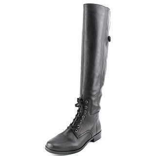 Pour La Victoire Cairo Round Toe Leather Over the Knee Boot