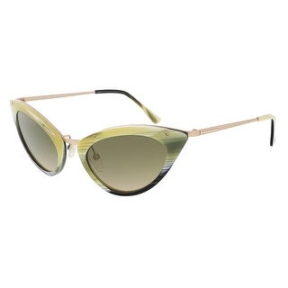 Tom Ford FT0349/S 64J Grace Olive Horn Cateye Sunglasses - olive horn - 52-20-135