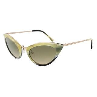 Tom Ford FT0349/S 64J Grace Olive Horn Cateye Sunglasses - 52-20-135