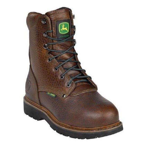 John Deere Work Boots Mens Steel Toe MET Lacer Royal Oak