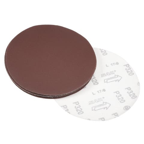 10Pcs 7 Inch Hook and Loop Sanding Disc 320 Grits Flocking Sandpaper Sander