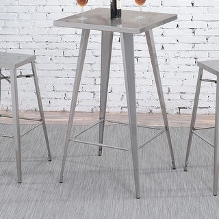 Link to Furniture of America Jopp Industrial Grey Metal Square Tall Bar Table Similar Items in Dining Room & Bar Furniture