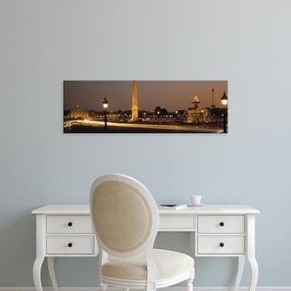 Easy Art Prints Panoramic Images's 'Place de la Concorde Paris France' Premium Canvas Art