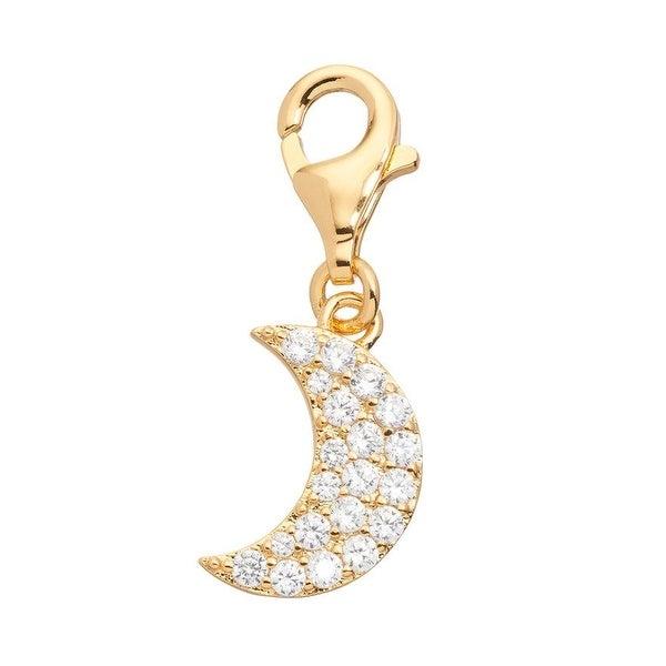 Julieta Jewelry Moon CZ Clip-On Charm