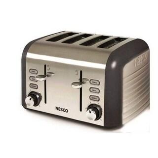 Nesco T1600-13 1000 Watt 4 Slice Toaster Stainless Steel
