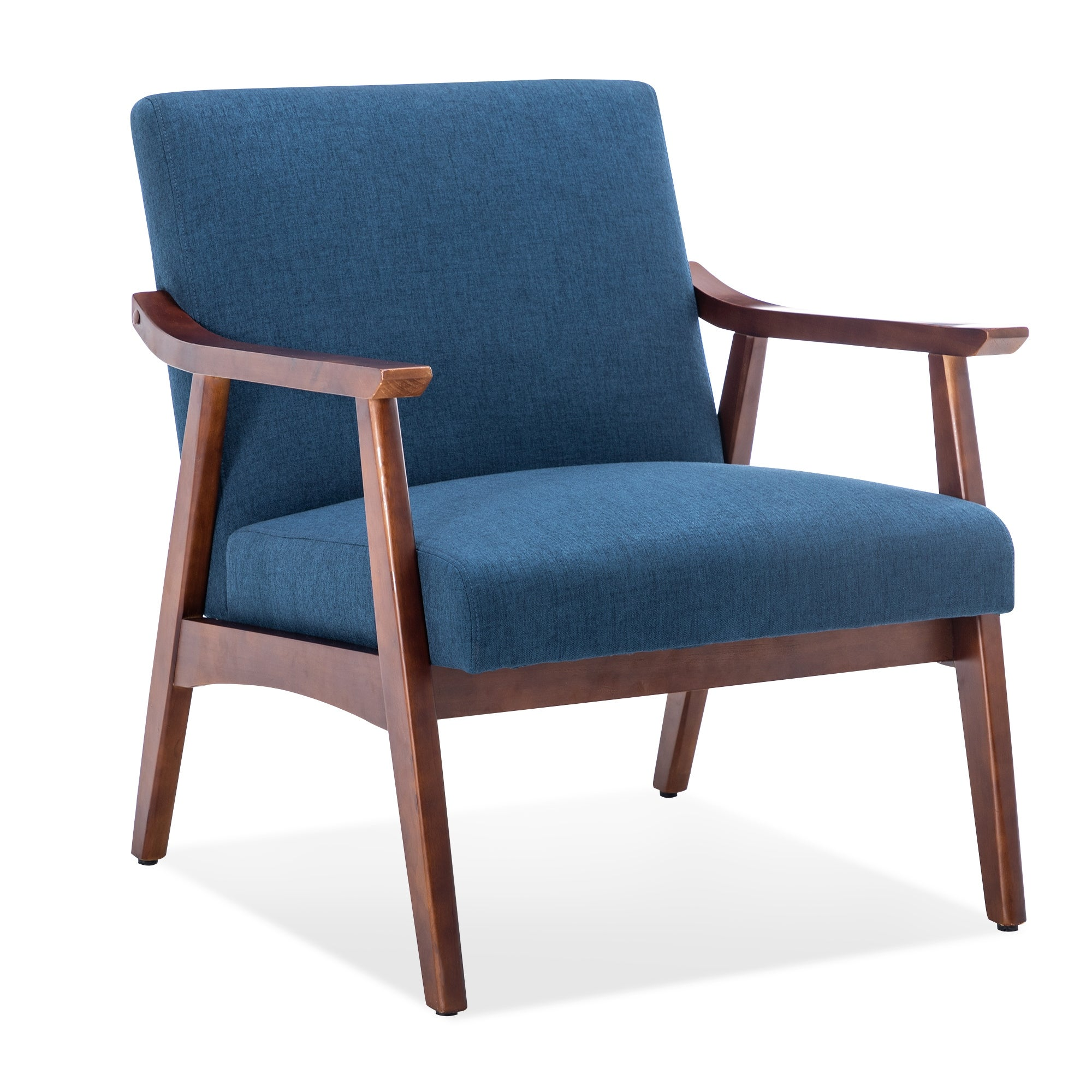 Picture of: Best Choice Products Linen Upholstered Modern Mid Century Tufted Accent Chair For Living Room Dark Blue Bedroom Pinnacleoilandgas Com