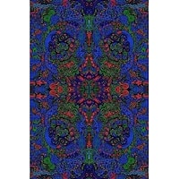 Handmade Cotton 3D Liquid L Psychedelic Tapestry Tablecloth Spread Twin 60x90