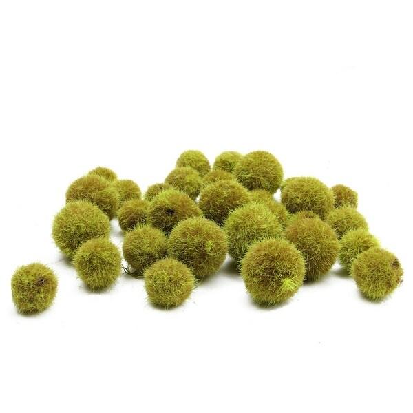 """27ct Decorative Artificial Moss Green Java Moss Fuzzy Accent Balls 1.25"""" - 1.75"""""""