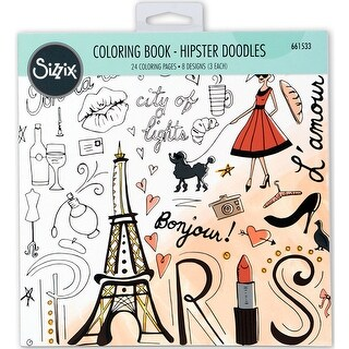 Sizzix Coloring Book-Hipster Doodles By Lindsey Serata