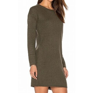 360 Cashmere NEW Green Womens Size Medium M Knitted Sweater Dress