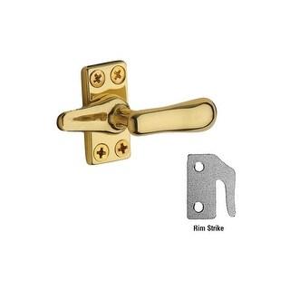 Baldwin 495 Solid Brass Heavy Duty Casement Fastener with Rim Strike