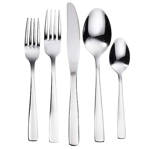 Bruntmor, The Everyday Silverware 20 Piece Flatware Cutlery Set, Durable Stainless Steel, Service for 4