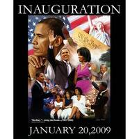 ''Obama Inauguration: Living the Dream'' by Wishum Gregory African American Art Print (20 x 16 in.)