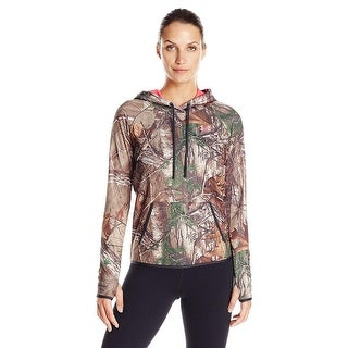 Under Armour Womens Icon Camo Realtree/Pink Chroma Small Pull Over Hoodie