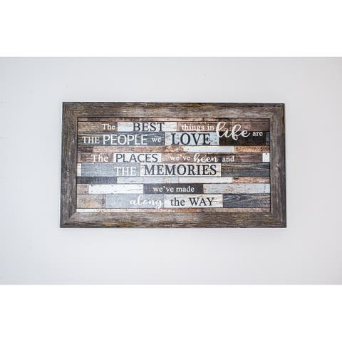 The Best Things In Life Are The People We Love Places We've Been and Memories Framed Art