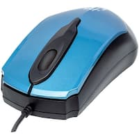 Manhattan Edge Optical Usb Mouse (blue And Black)