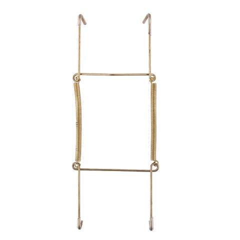 Metal 7.5 to 9 Inch Spring Plate Hangers Wall Rack Holder Hook Display - Gold Tone