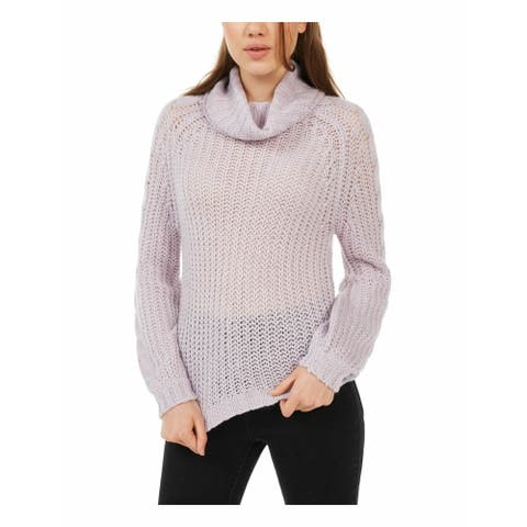 Planet Gold Juniors' Cowl-Neck Sweater Purple Size Small
