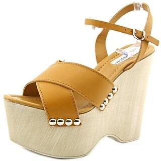 Steve Madden Lylia Women Open Toe Leather Wedge Heel