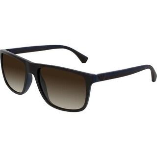 Emporio Armani Men's Gradient EA4033-523113-56 Brown Square Sunglasses