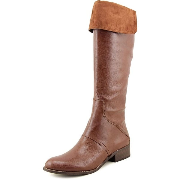 Nine West Noriko Women  Round Toe Leather Brown Knee High Boot