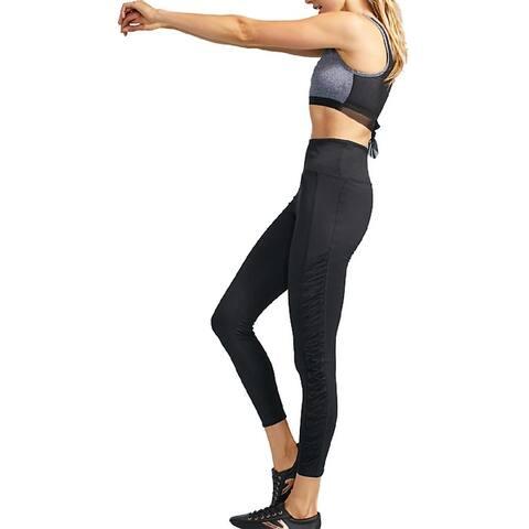 Splendid Women's Ruched Quick Dry Activewear Fitness Leggings