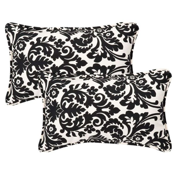 Shop Set Of 2 Outdoor Patio Rectangular Throw Pillows 18 5