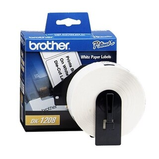 Brother DK1208W Brother DK-1208 Large Address Paper Label Roll (1.5x3.5, 400-Count) - Retail Packaging