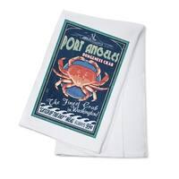 Port Angeles WA - Dungeness Crab Sign - LP Artwork (100% Cotton Towel Absorbent)