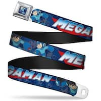Megaman Running Full Color Blue Megaman Poses Blues Red Blues Webbing Seatbelt Belt