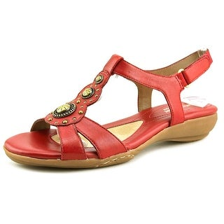 Naturalizer Carlita Women Open-Toe Leather Red Slingback Sandal