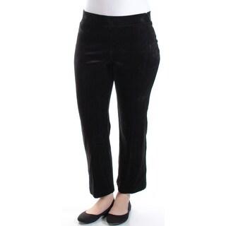 Womens Black Straight leg Pants Petites Size S