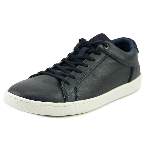 Aldo Tang Men Round Toe Leather Blue Sneakers