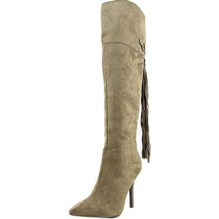 Qupid Mixi-117A Women Pointed Toe Synthetic Knee High Boot