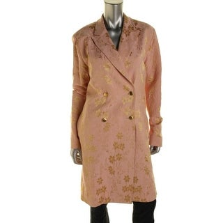 Tome Womens Brocade Shimmer Coat - L