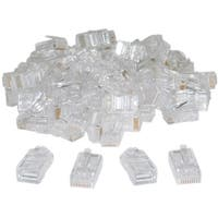 Offex Cat5 RJ45 Crimp Connectors for Solid and Stranded Cable, 8P8C, 100 Pieces (not for data network)