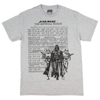 Star Wars T Shirt Darth Vader Imperial March Music Line Sheet Men's Tee